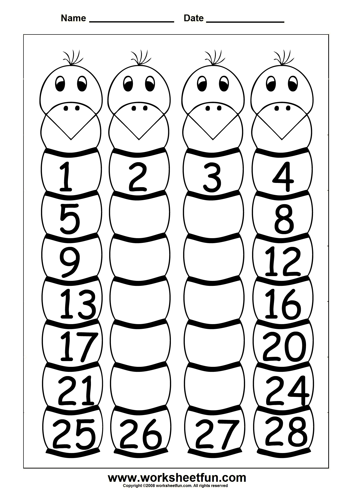 8 Best Printable Number 1 Worksheet