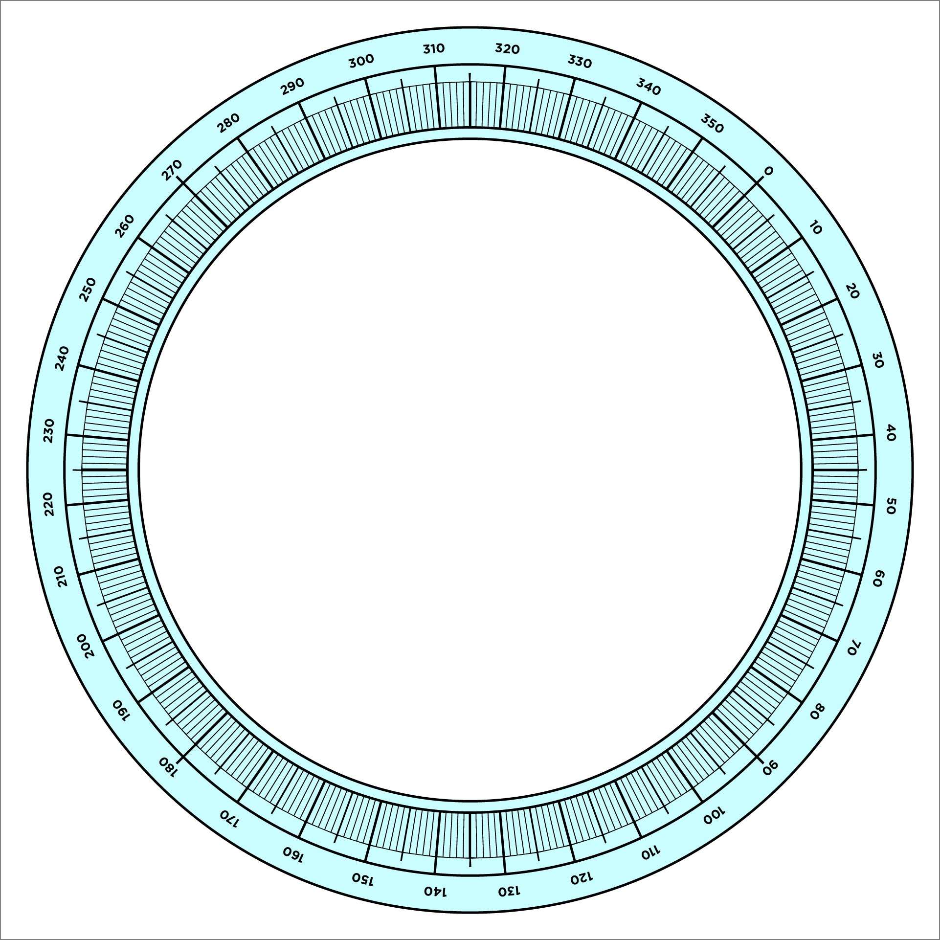image relating to Printable Protractor 360 identify Protractor Template. protractor clipart free of charge down load clip