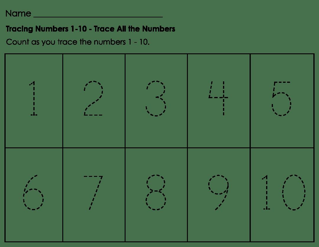 8 Best Number Tracing Printable Worksheets