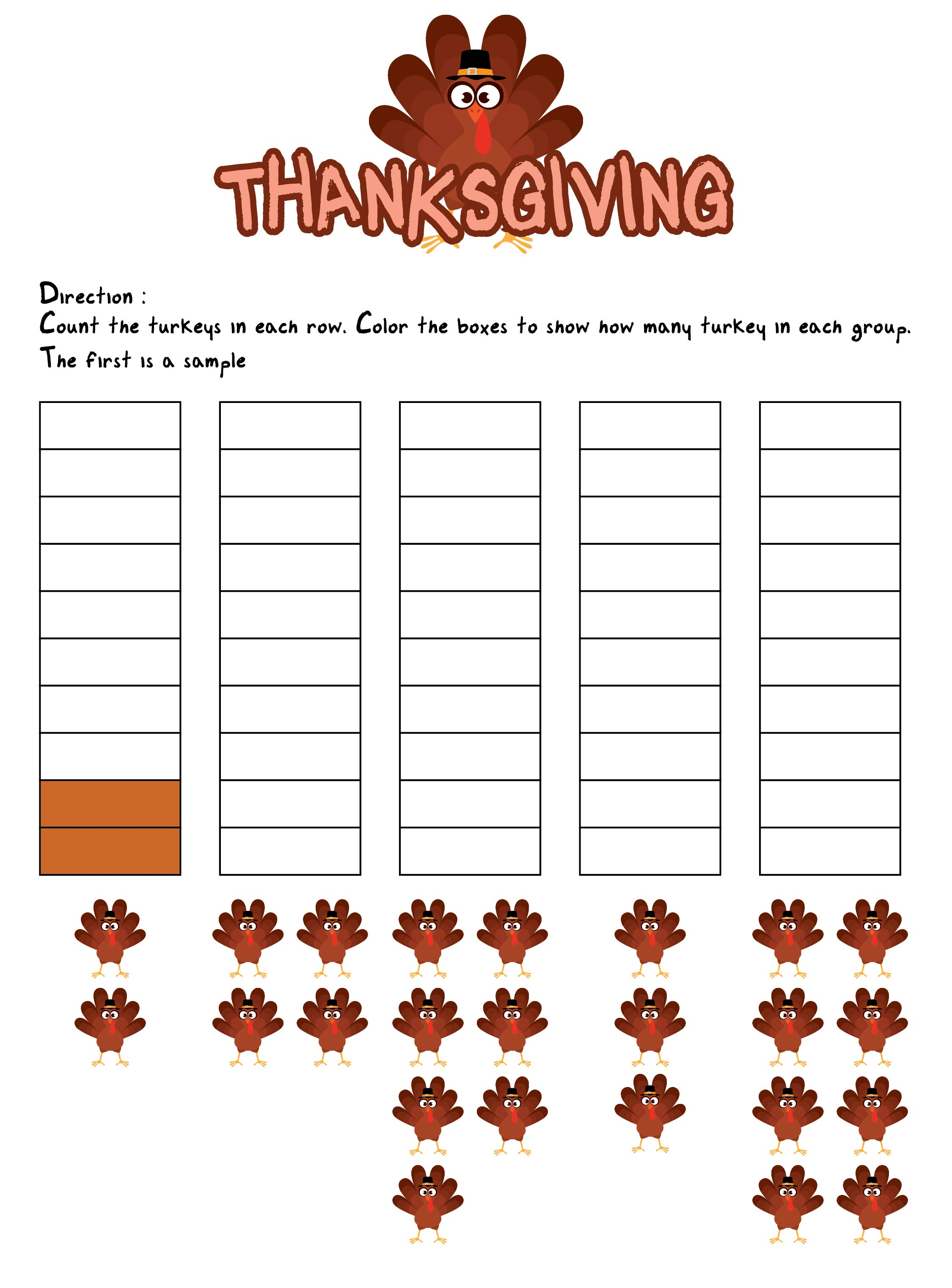 Thanksgiving Multiplication Worksheets For 3rd Grade