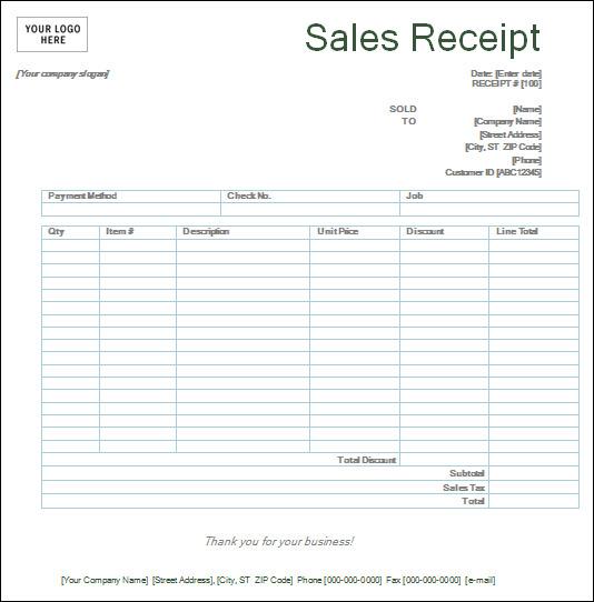 Free Printable Receipts Templates free free printable receipt – Sales Receipts Template Free