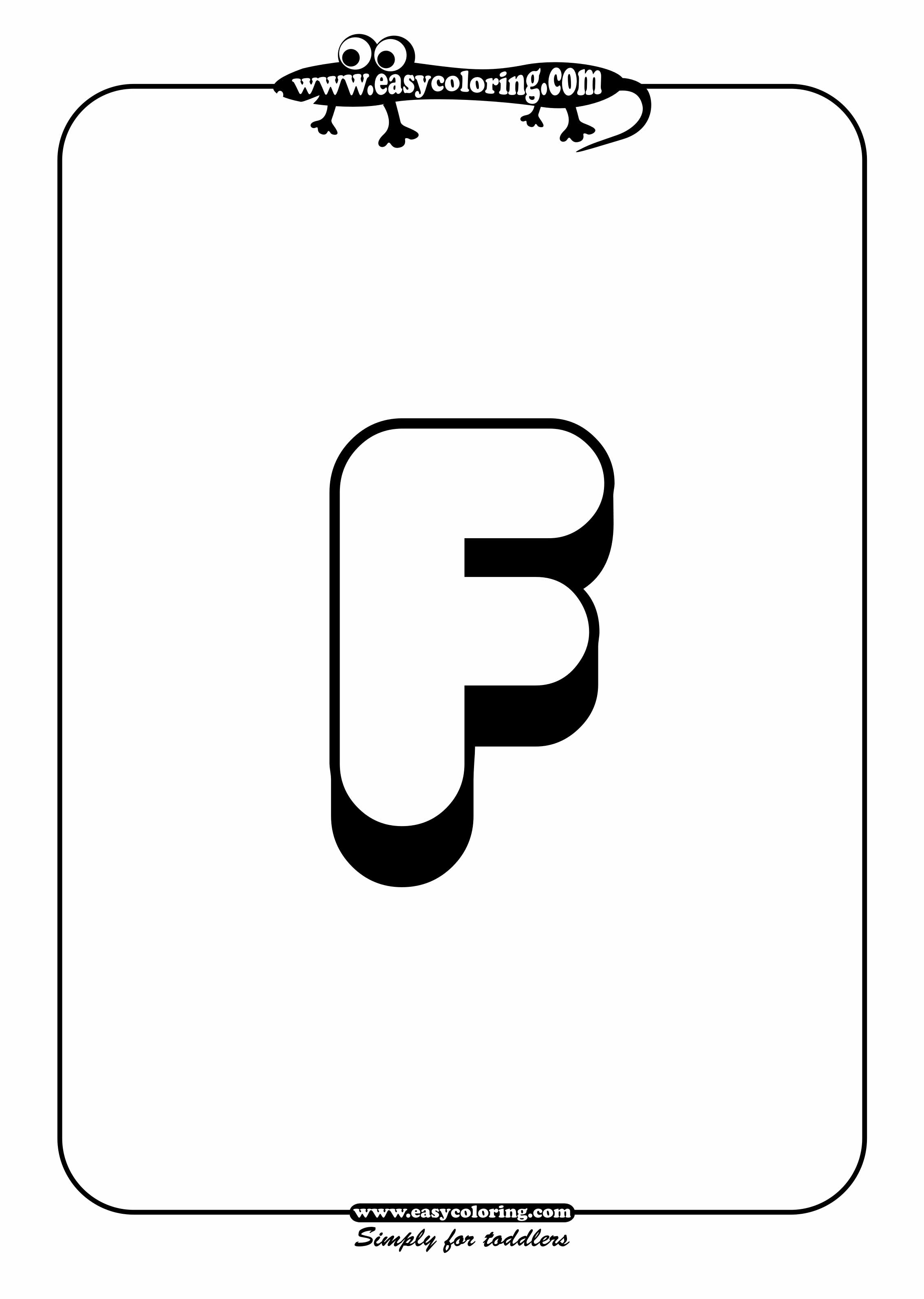 Alphabet F Coloring Pages