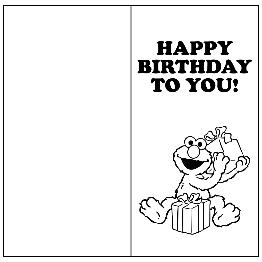 10 Best Printable Folding Birthday Cards Printablee Com