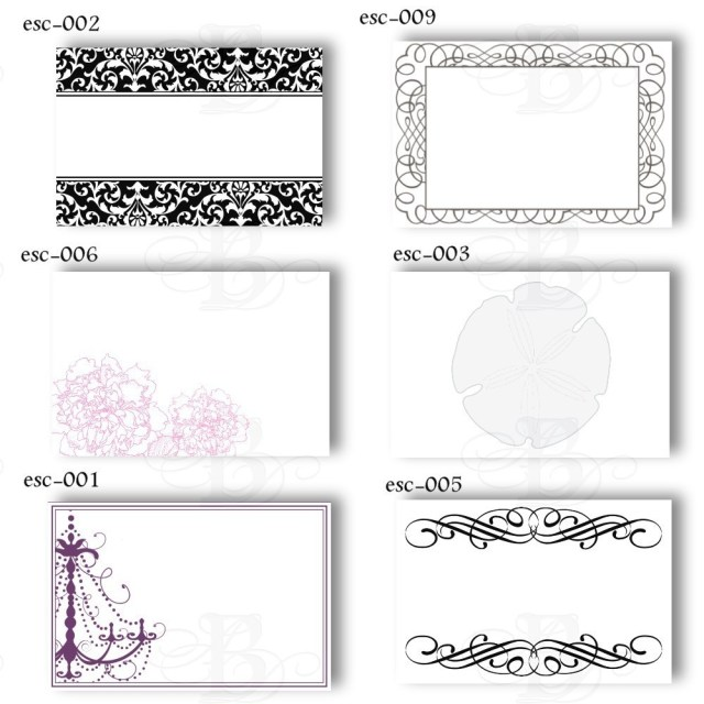 Design #2 Wedding Place Card Template With Border