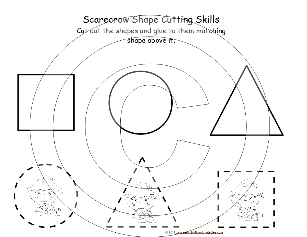 5 Best Images Of Cut And Paste Shapes Printables