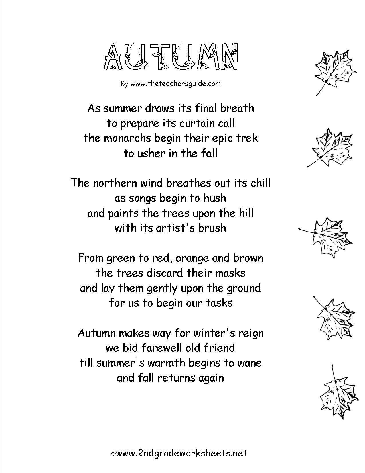 5 Best Images Of Fall Comprehension Worksheets And
