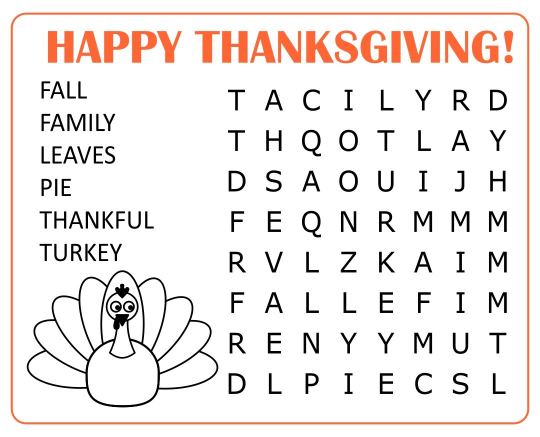 5 Best Images Of Hard Thanksgiving Word Search Printable