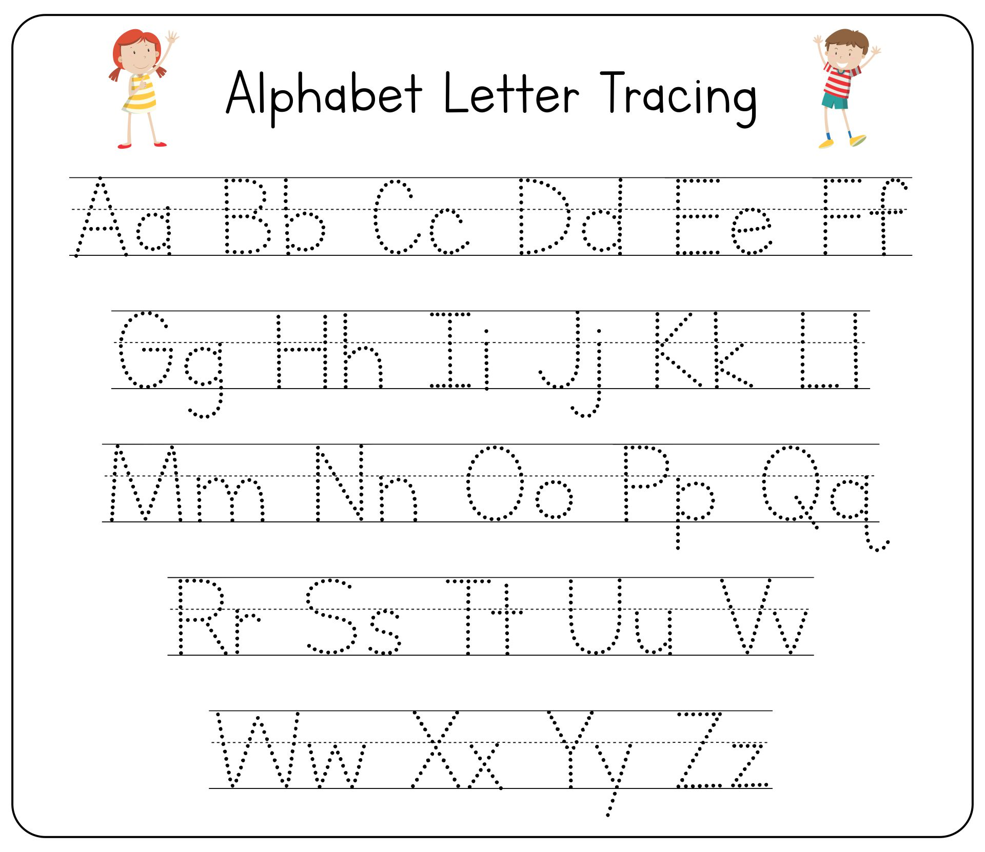 7 Best Free Printable Tracing Letters
