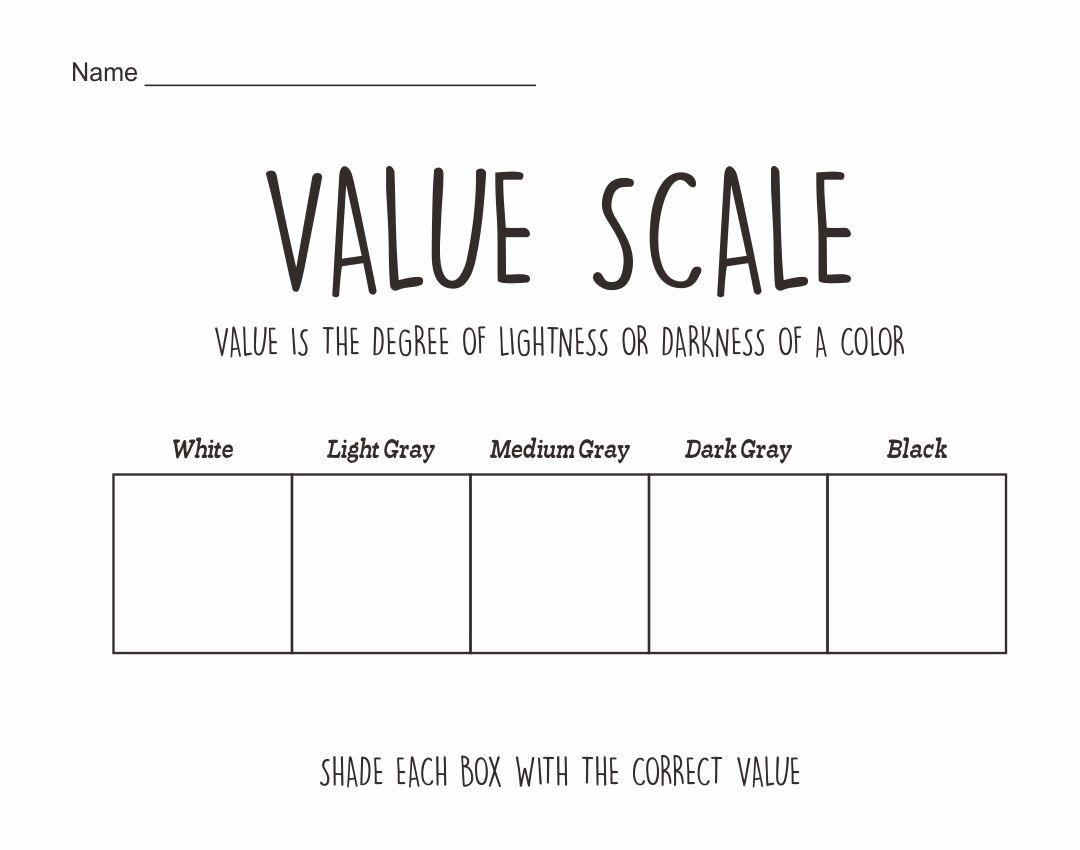 6 Best Images Of Value Scale Worksheet Printable
