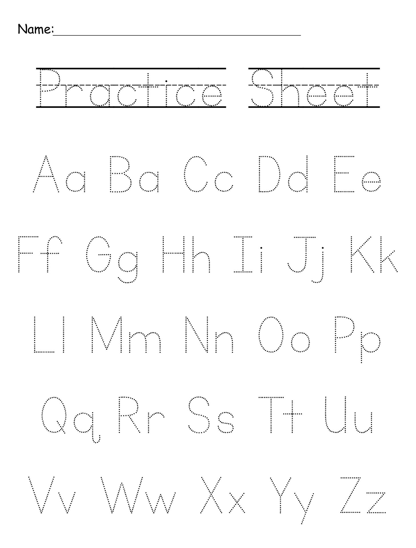 8 Best Free Printable Alphabet Worksheets Letter F