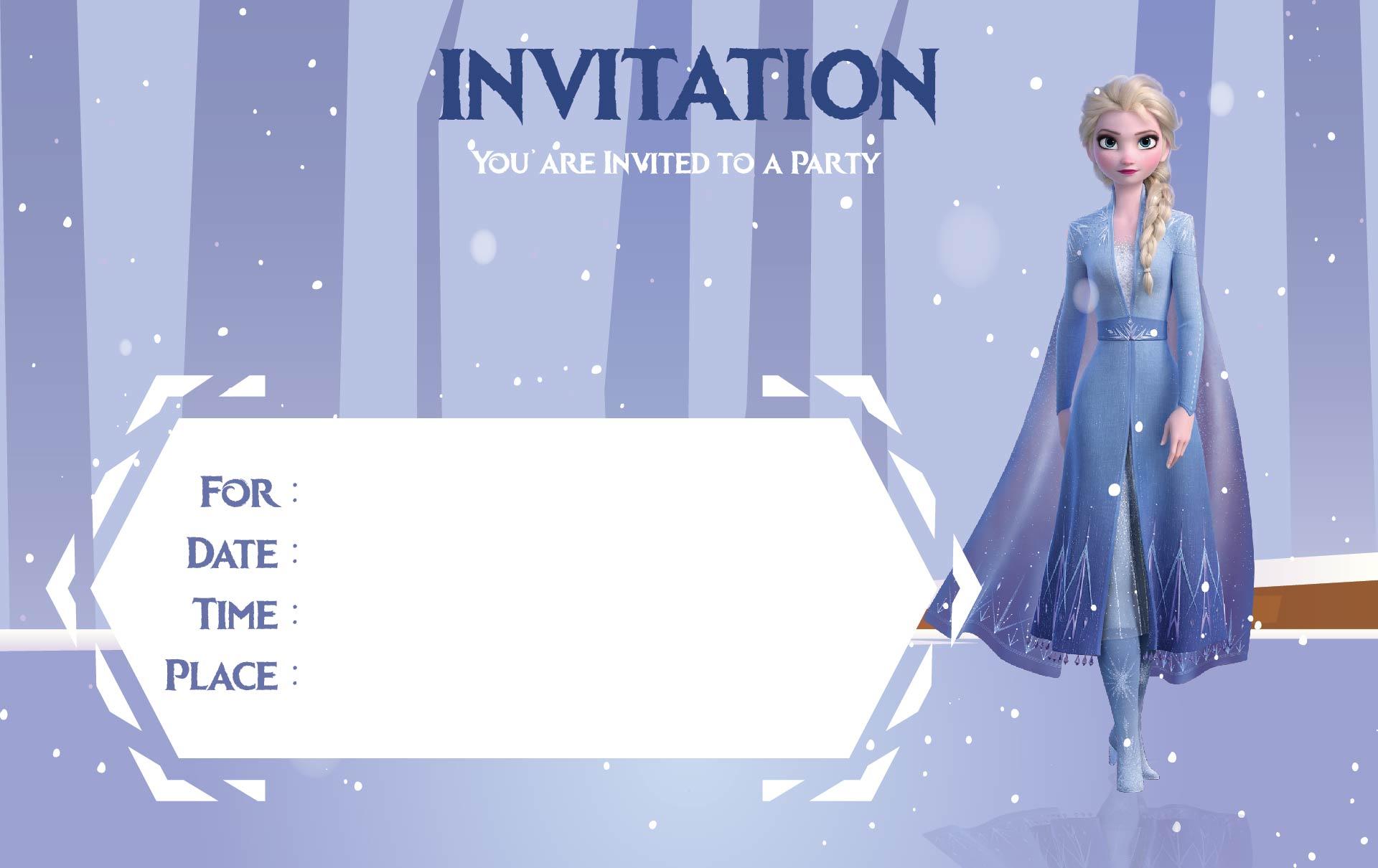 9 best frozen birthday invitations