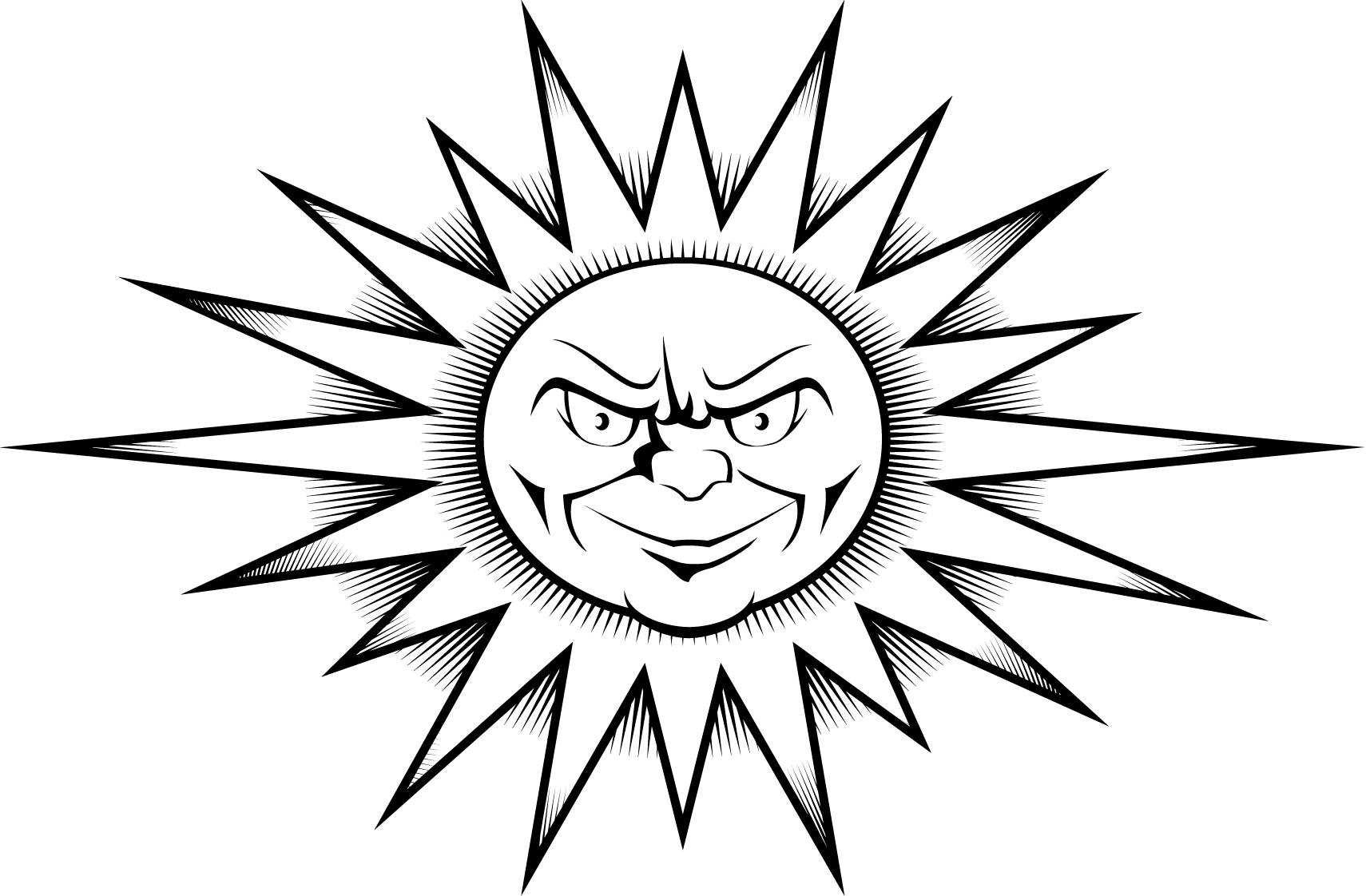 8 Best Images Of Printable Sun Clip Art Designs