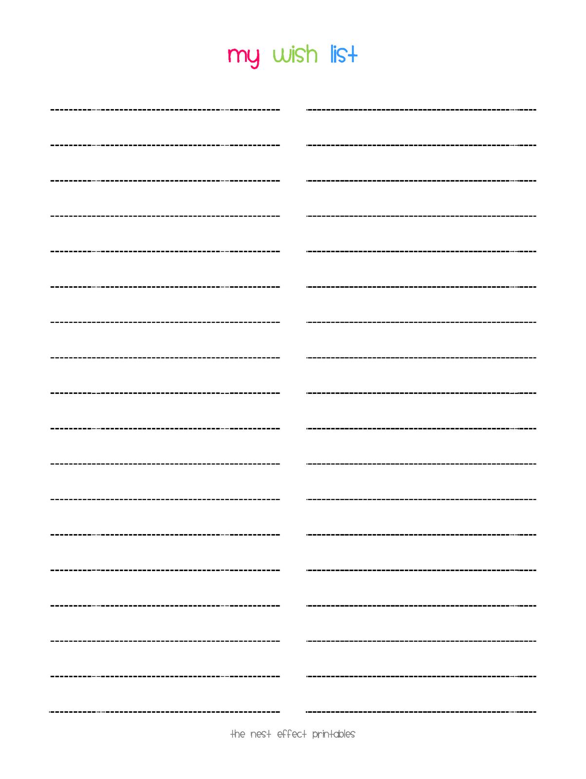 christmas wish list template 8 free templates in pdf word blank – Xmas Wish List Template