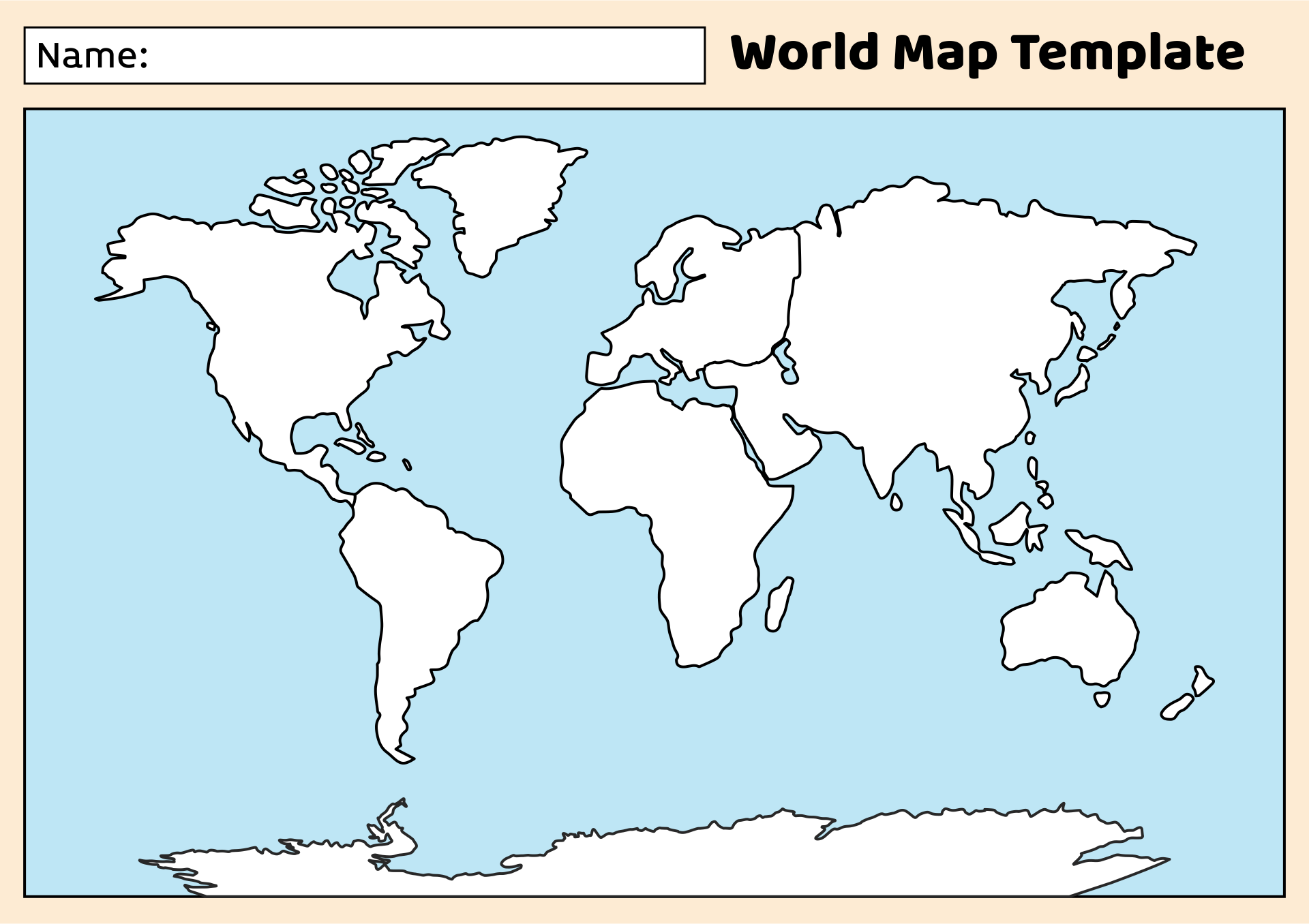 picture regarding World Map Stencil Printable known as World-wide Map Blank Template. 10 tale map templates absolutely free phrase