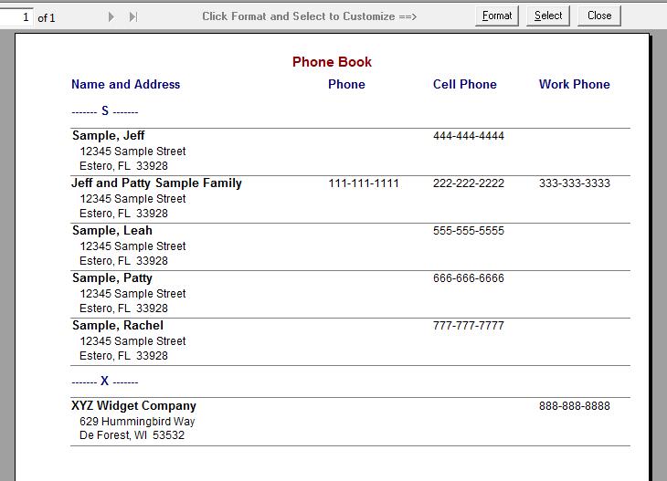 free free printable address book