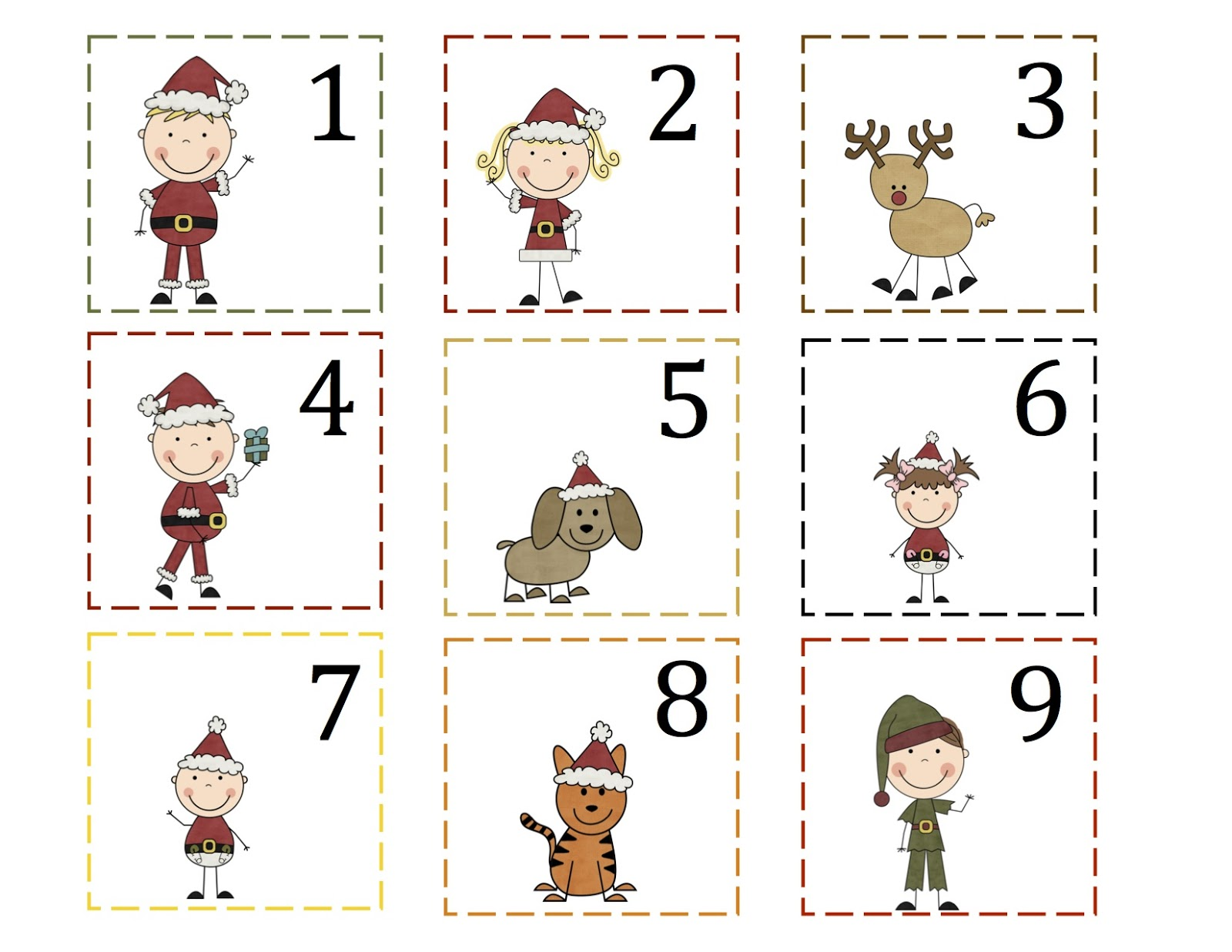 5 Best Images Of Printable Christmas Calendar Numbers