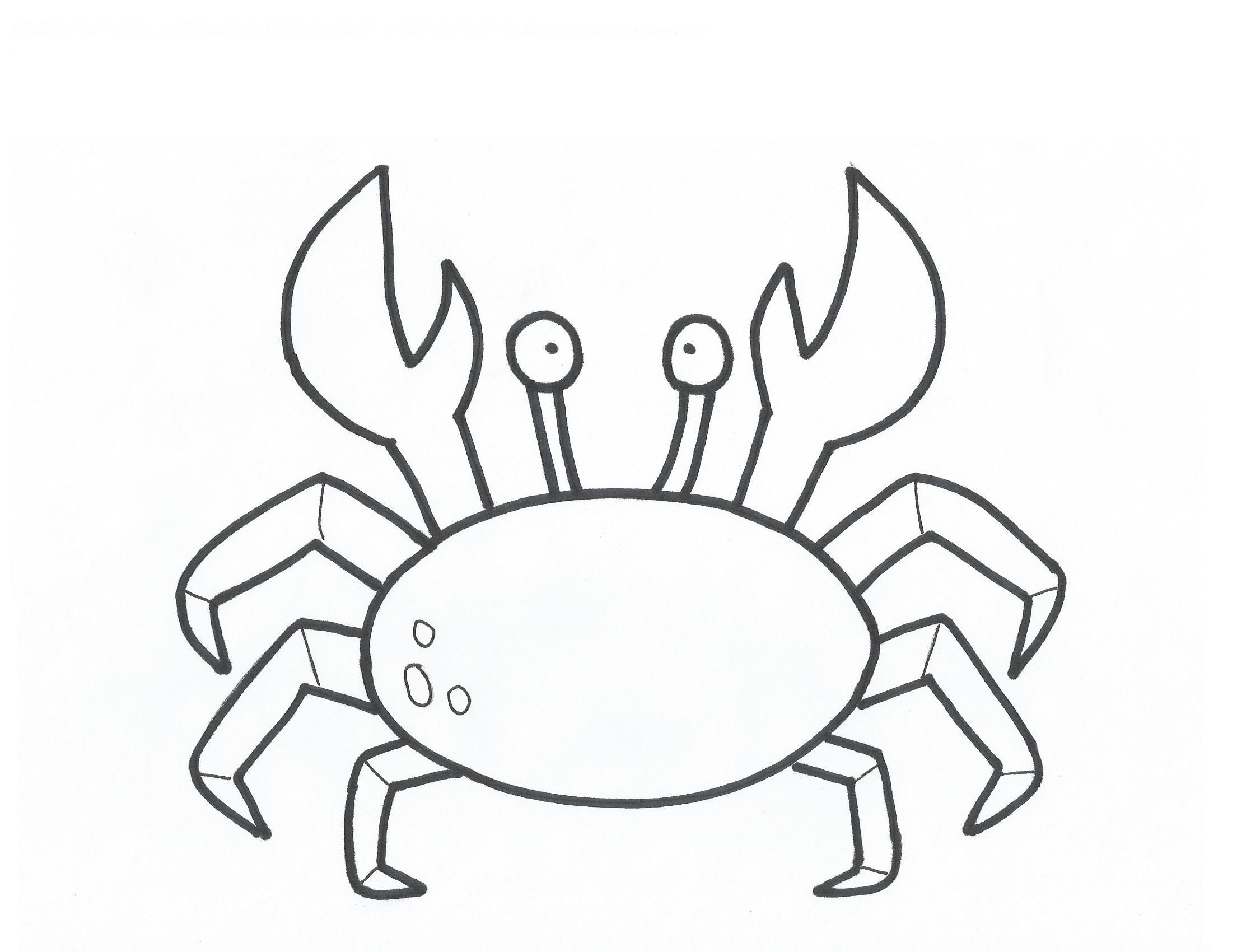 Crab And Sea Life Stencils