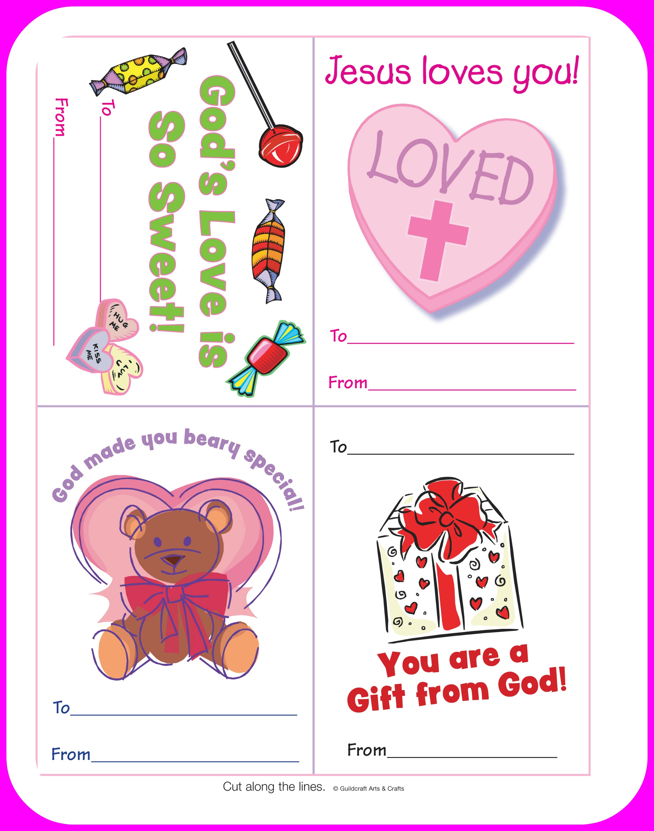 5 Best Images Of Printable Christian Valentine Craft