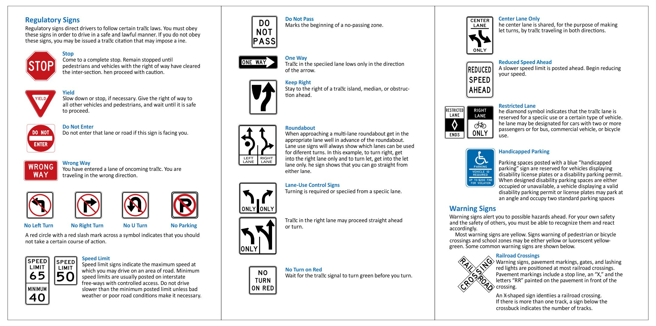 8 Best Images Of Road Sign Practice Test Printable