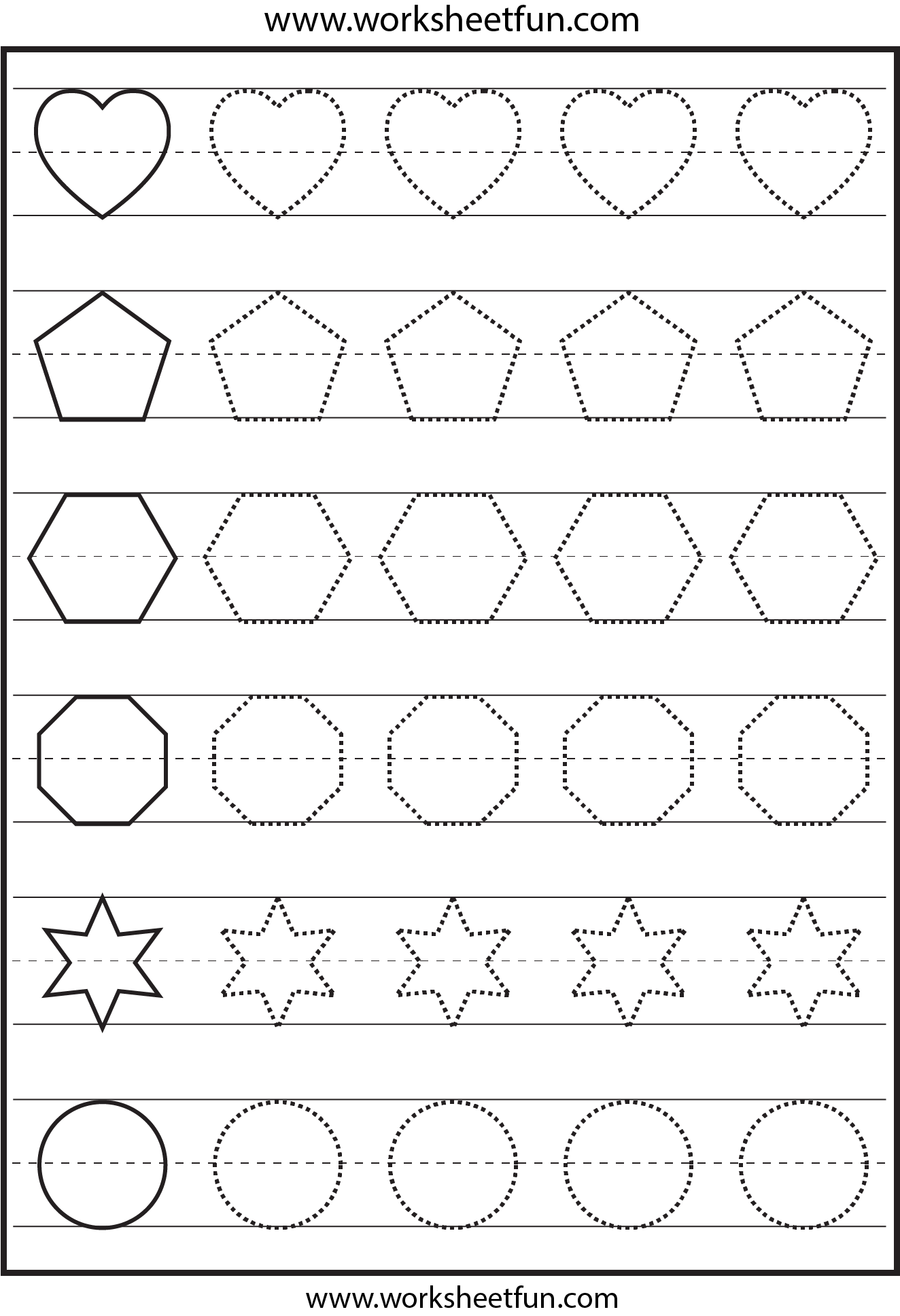5 Best Images Of Printable Shape Tracing Worksheet