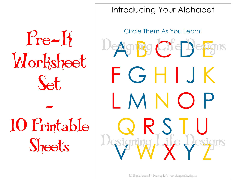 Pre Kindergarten Homework Sheets