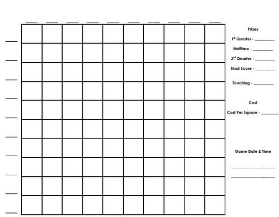 Number Names Worksheets Blank 100 Chart Printable Free – Foot Ball Square Template