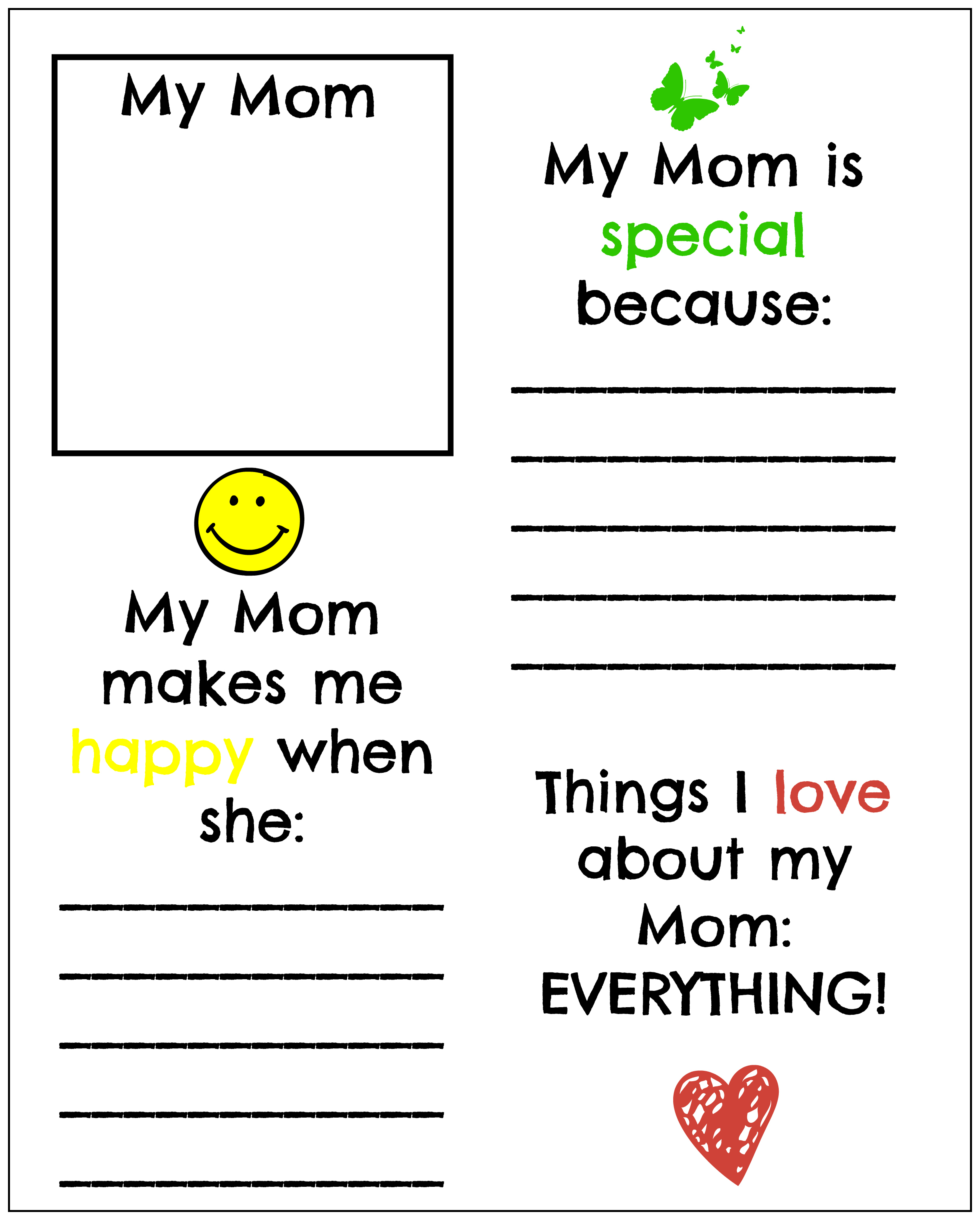 5 Best Images Of All About Mom Mother S Day Printables