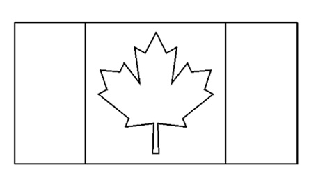 canadian flag coloring page coloring pages now
