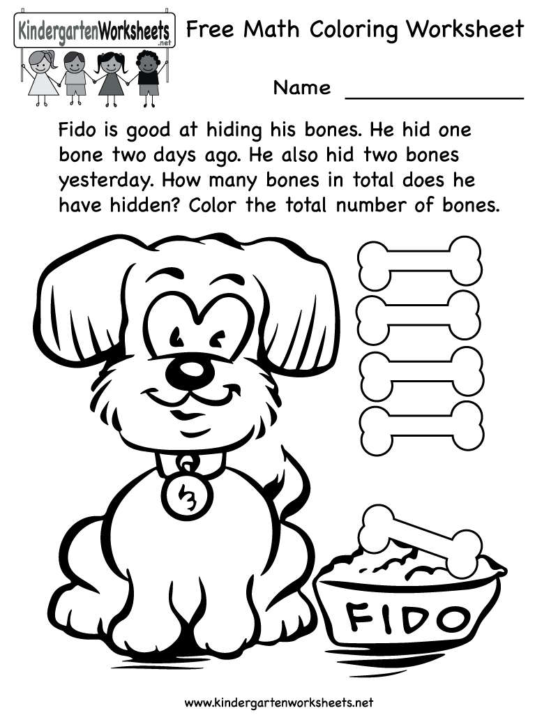 Coloring pages printable for kindergarten - Coloring Pages Math Worksheets 101