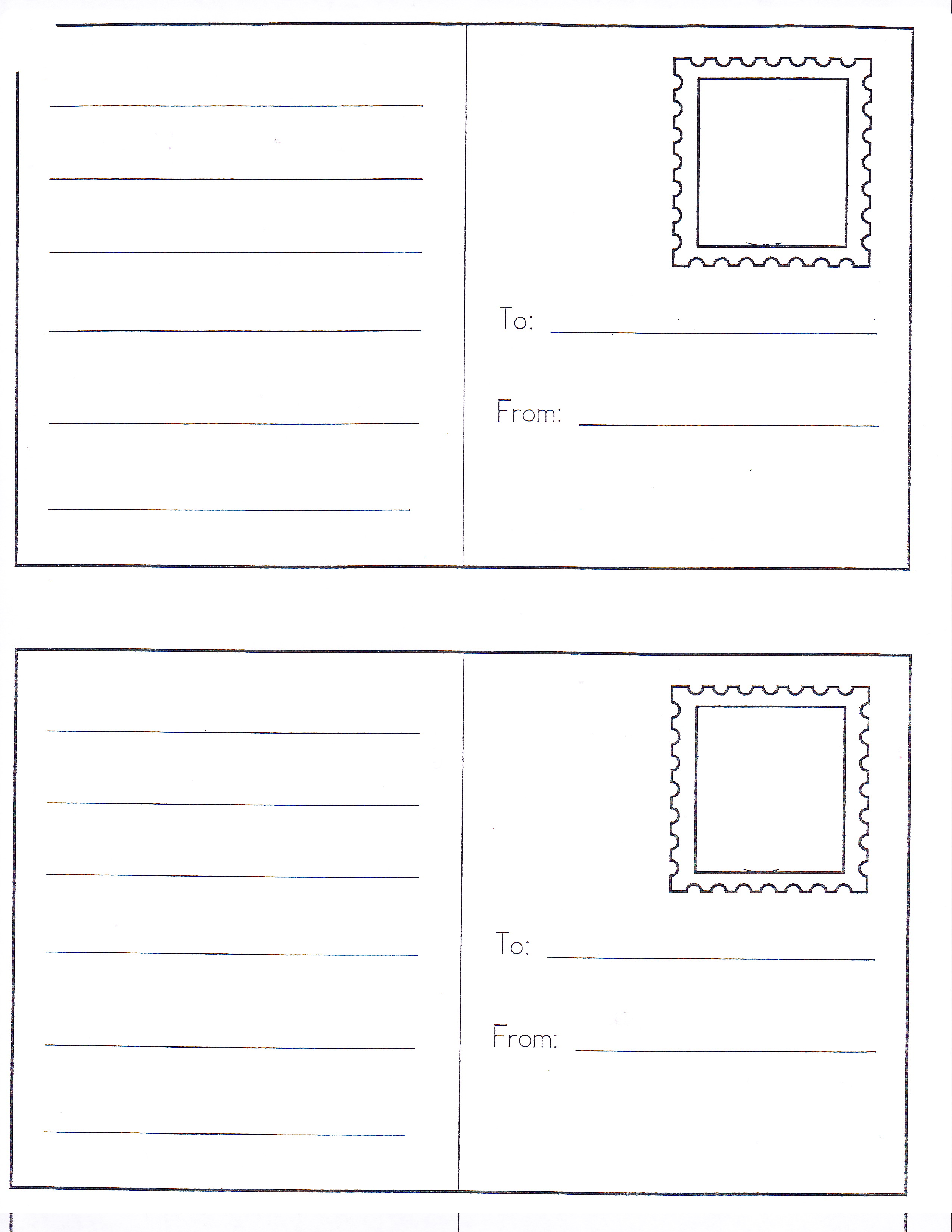 6 Best Images Of Preschool Post Office Printables