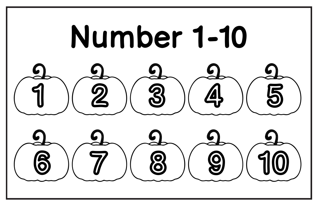 6 Best Images Of Numbers 1 10 Printable Worksheet