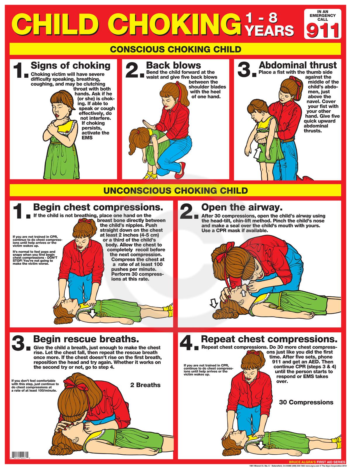 6 Best Choking Cpr Printable