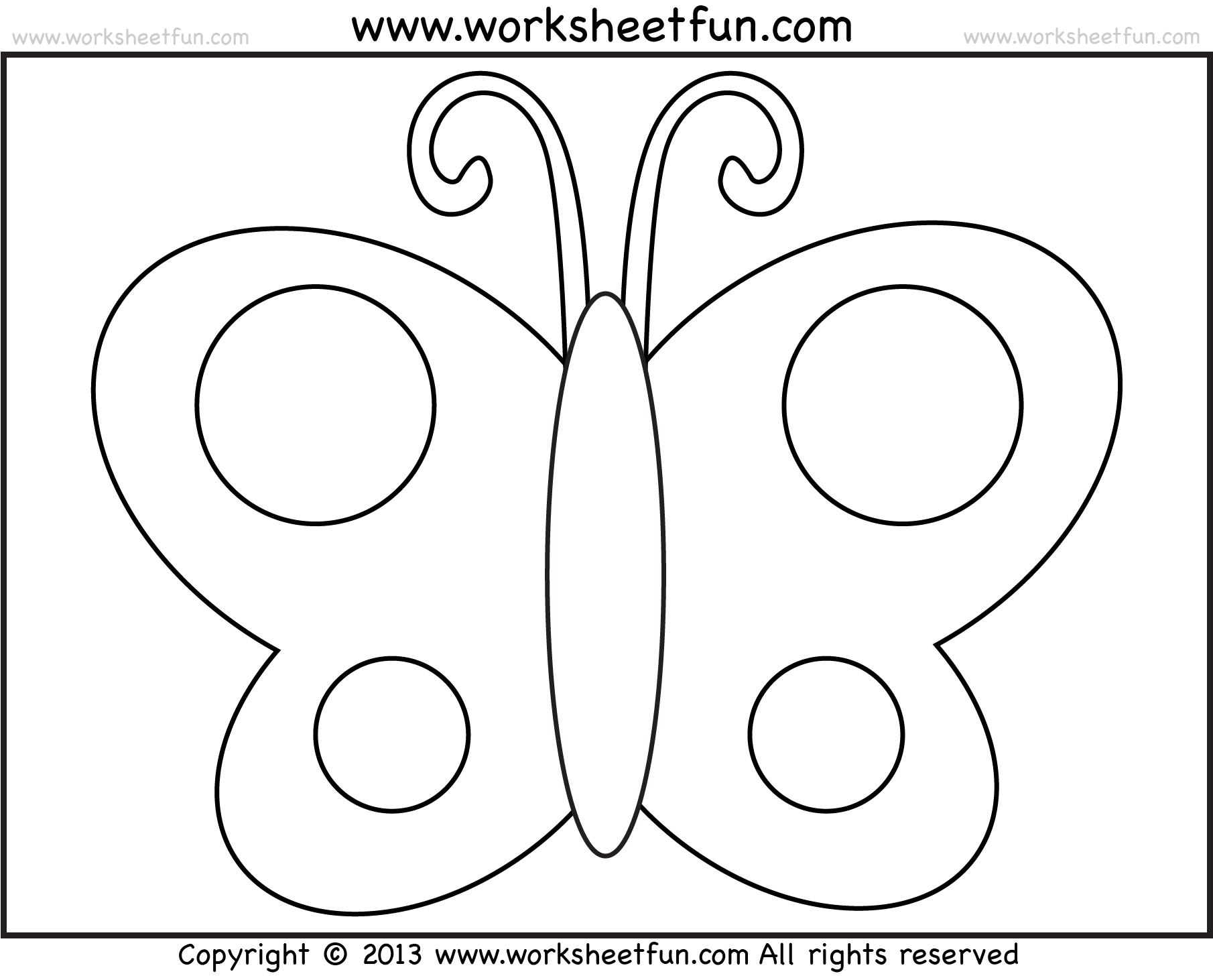5 Best Images Of Printable Traceable Butterfly