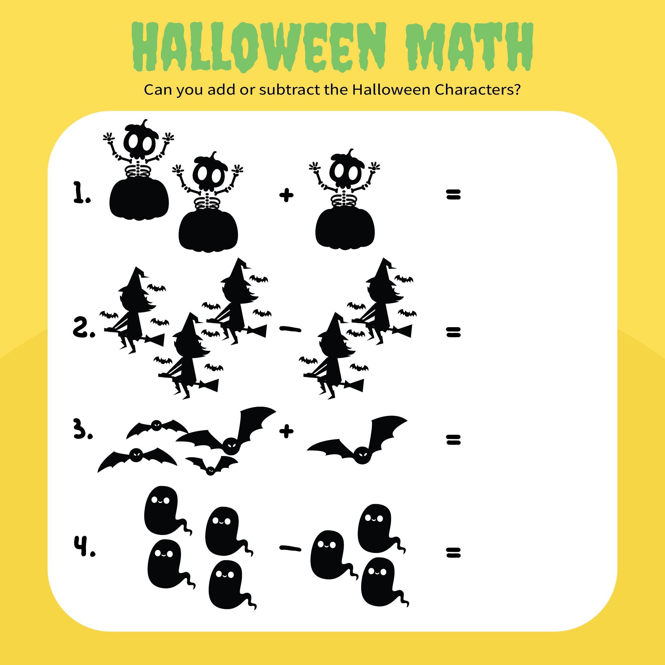 7 Best Halloween Free Printable Preschool Worksheets