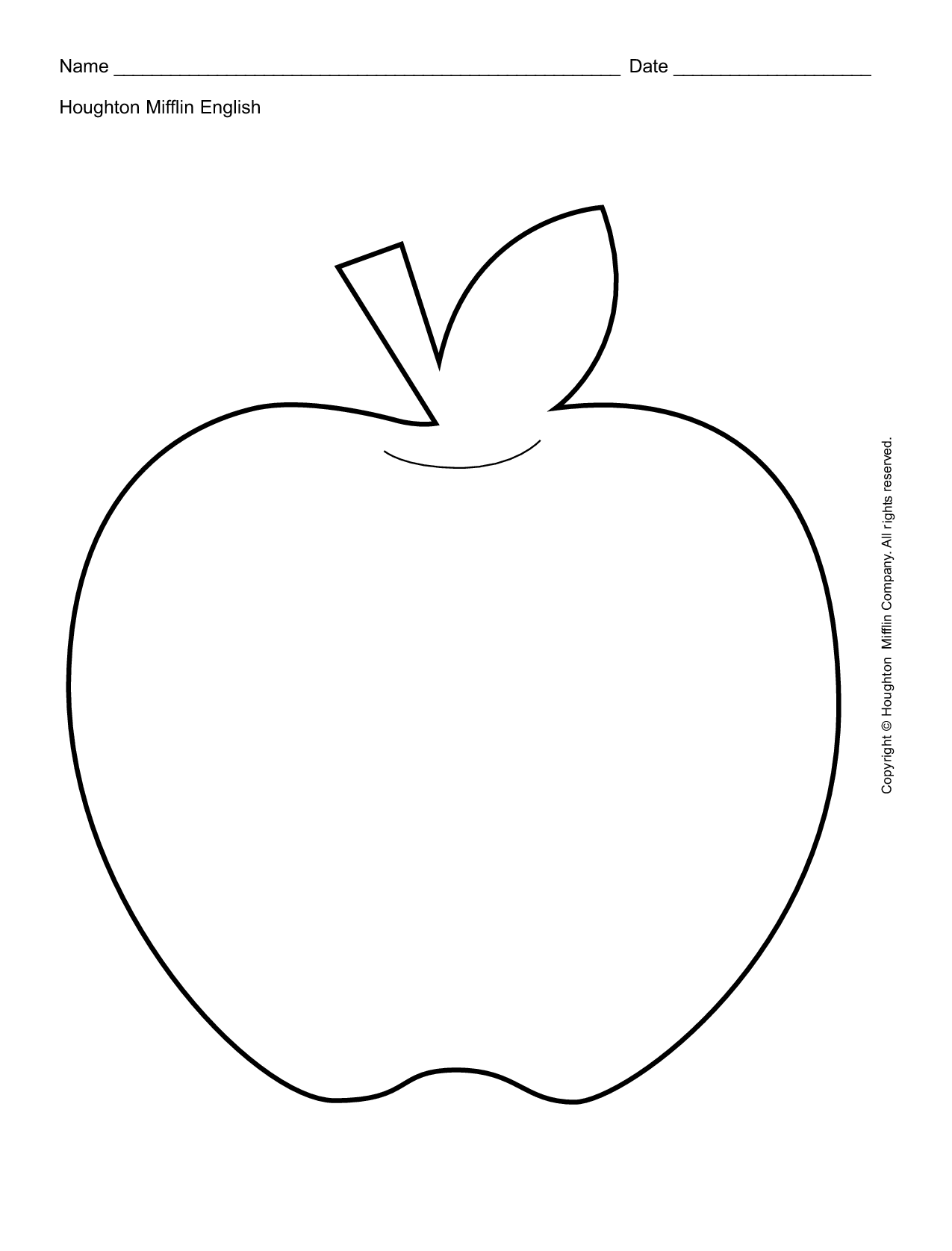6 Best Images Of Free Printable Apple Template