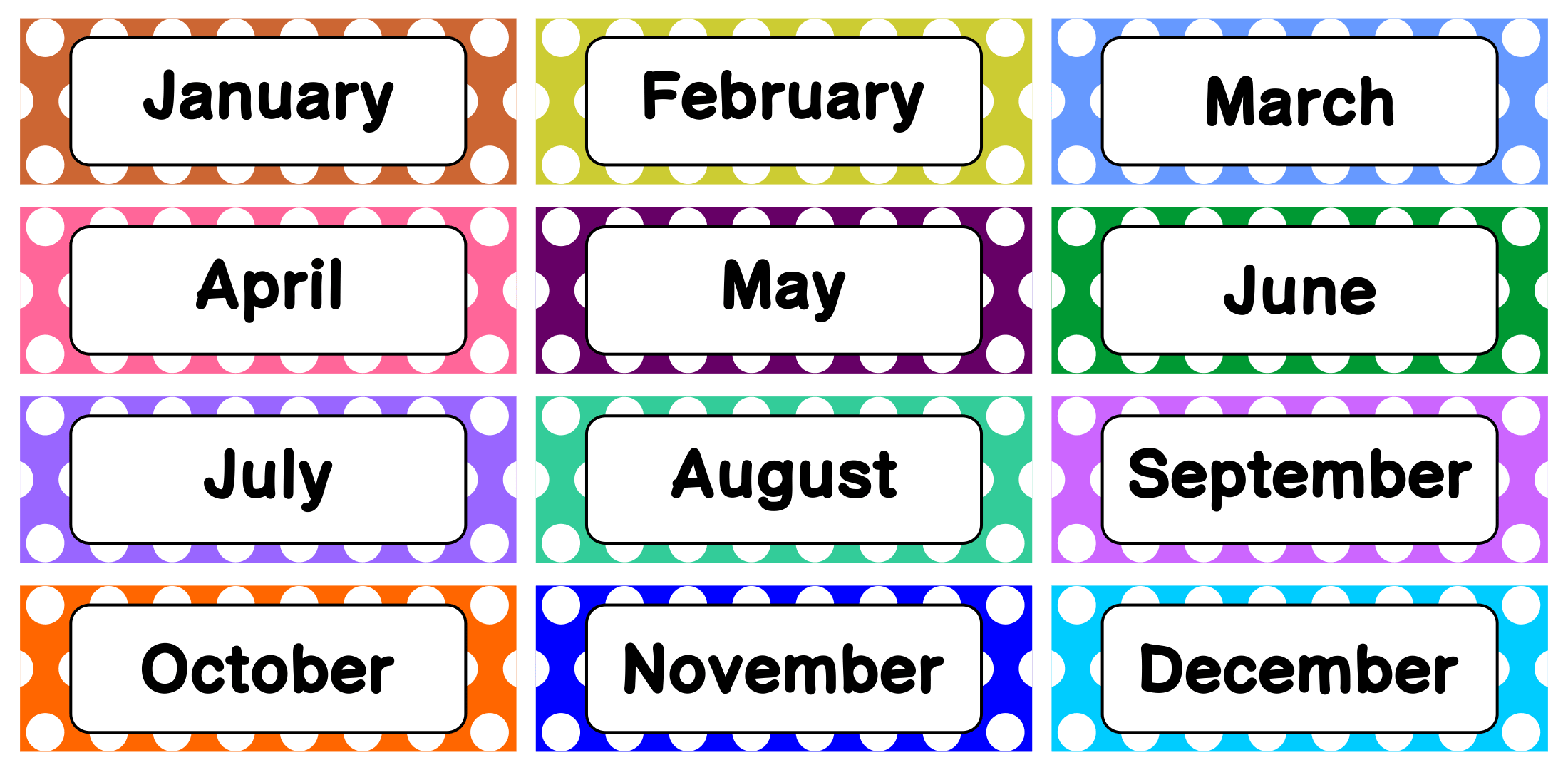 8 Best Printable Calendar Month Labels