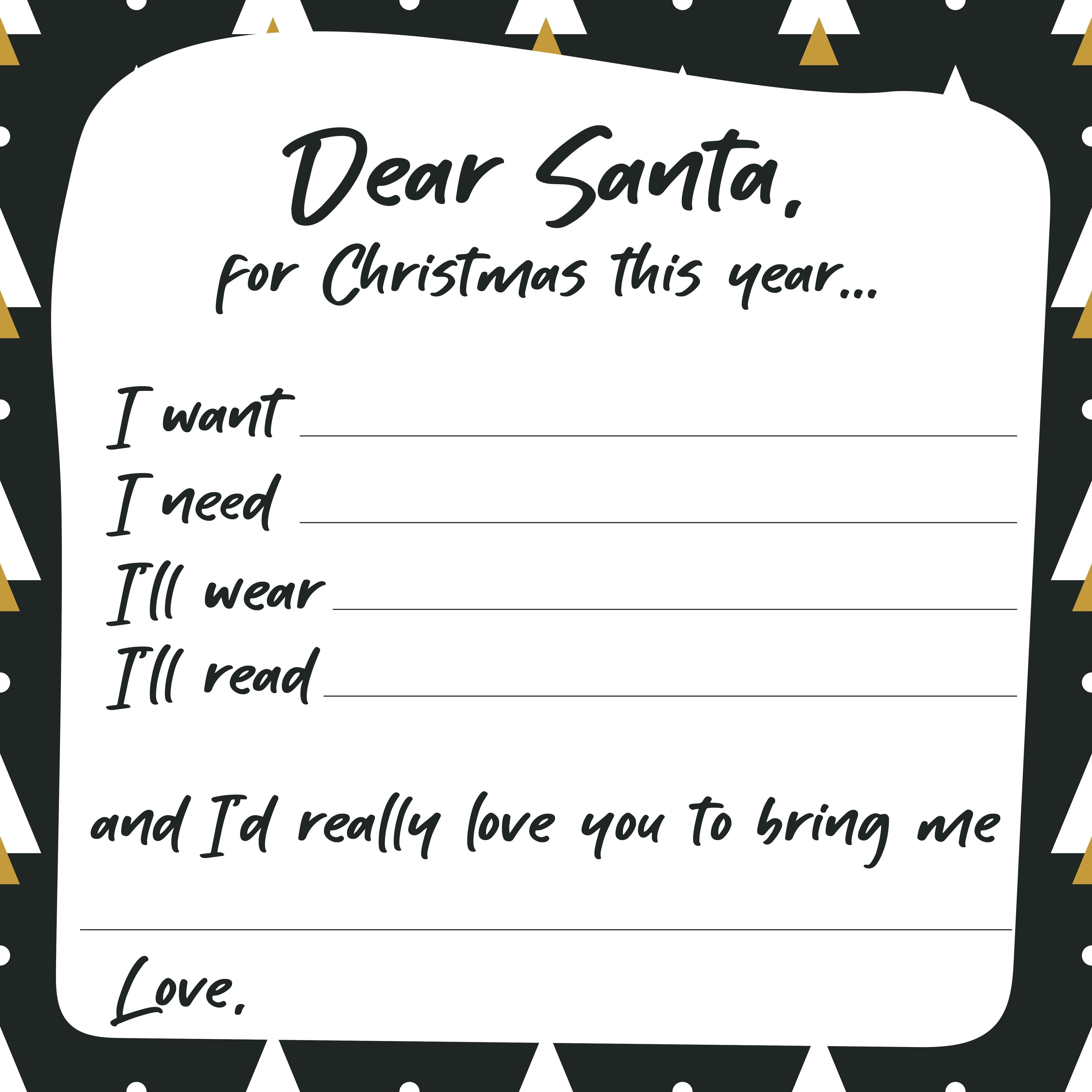 Printable Christmas Wish List Ideas.Christmas Wish List Template Make A Christmas List I Made A