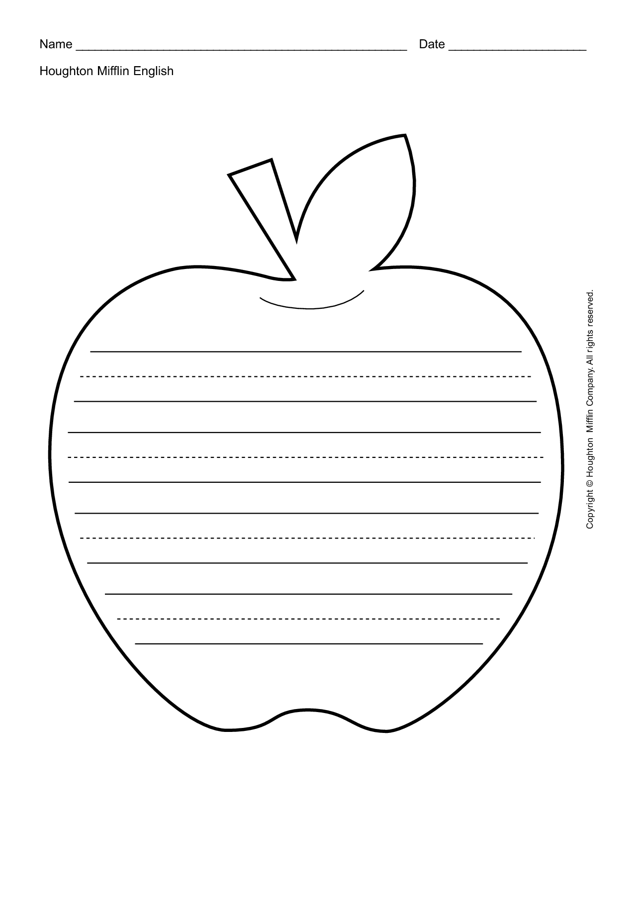 6 Best Images Of Printable Apple Worksheets