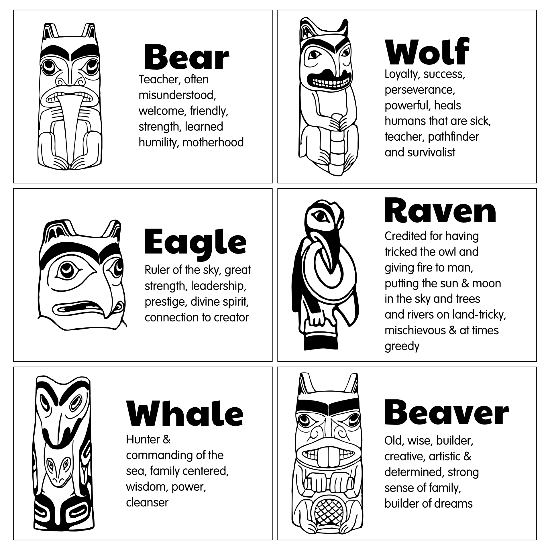 7 Best Images Of Printable Totem Pole Templates