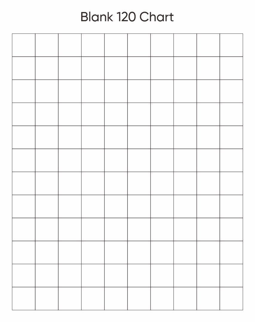 6 Best Images Of Printable Blank Chart 1 120
