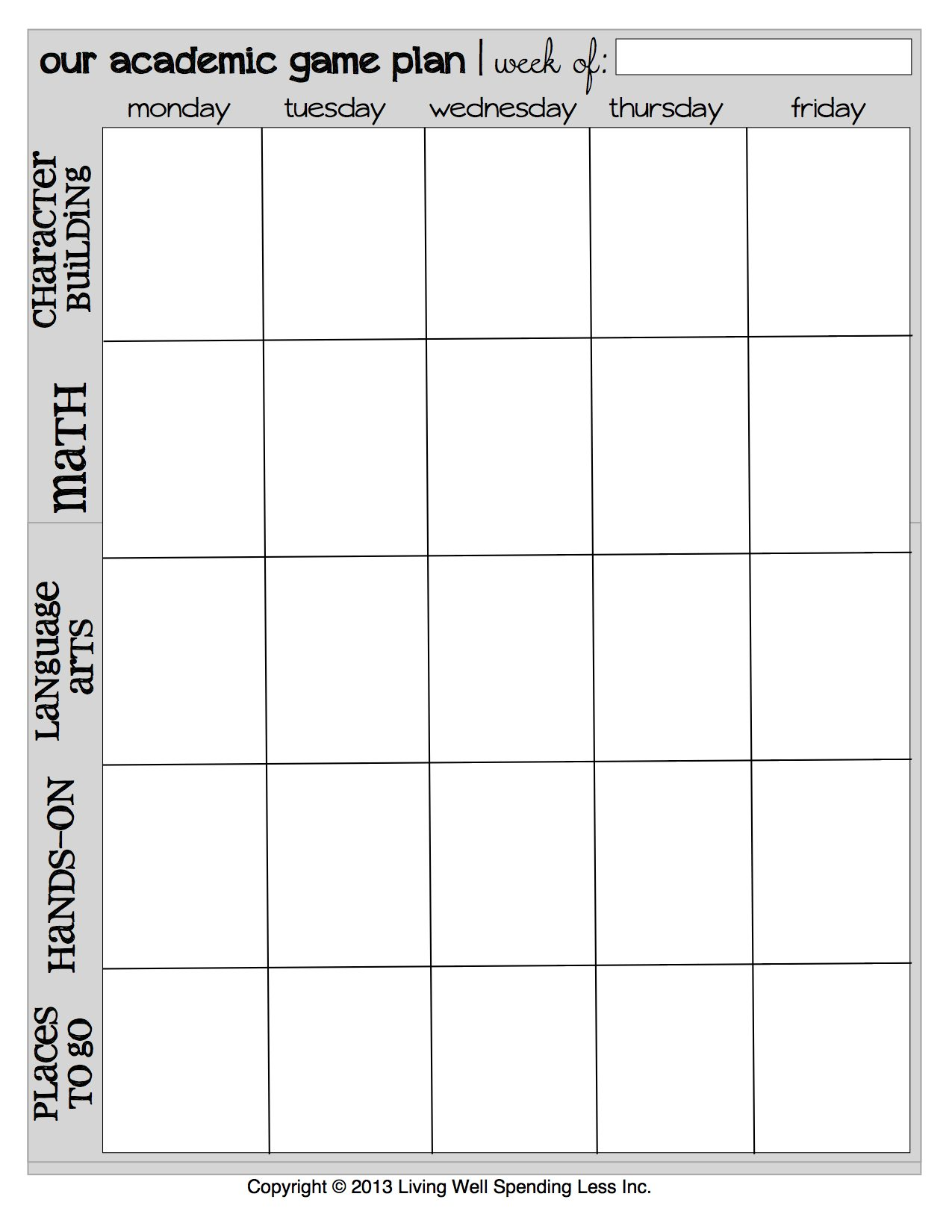 Schedule Printable Images Gallery Category Page 7
