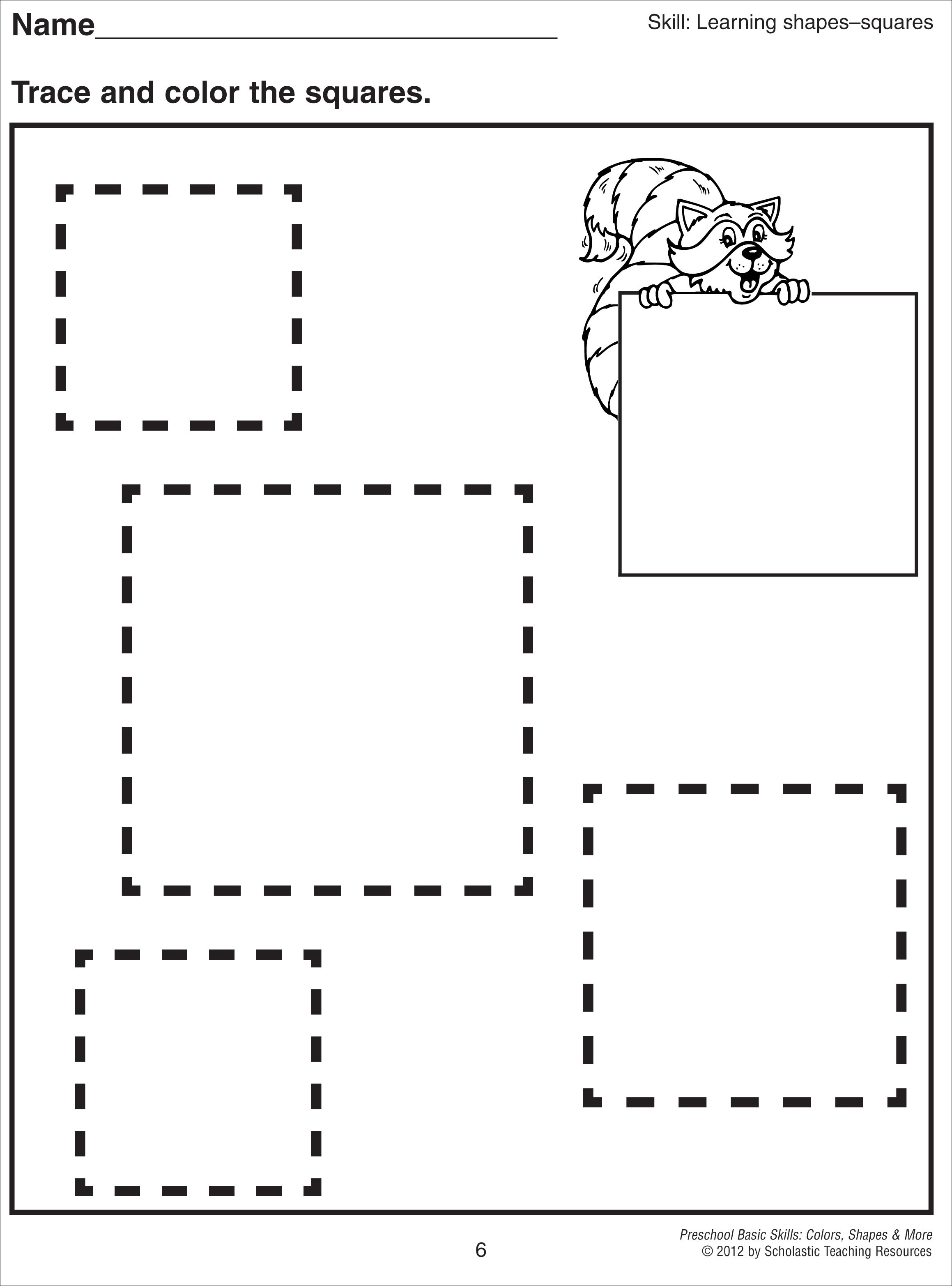 5 Best Images Of Printable Square Kindergarten