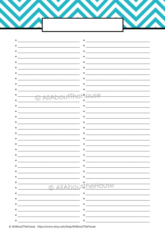 6 Best Images Of Cute Printable Blank List