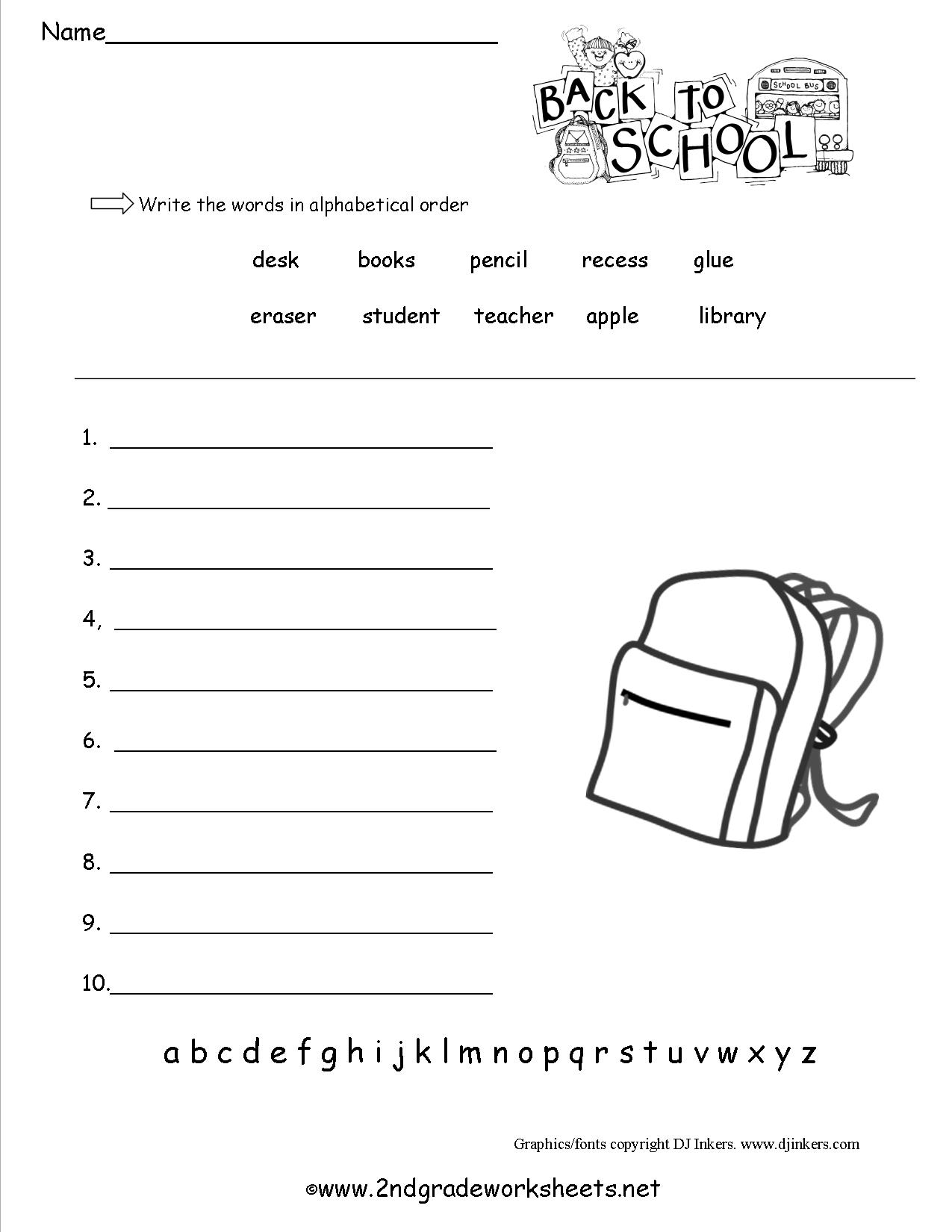 6 Best Images Of Printable School Worksheets For 3rd