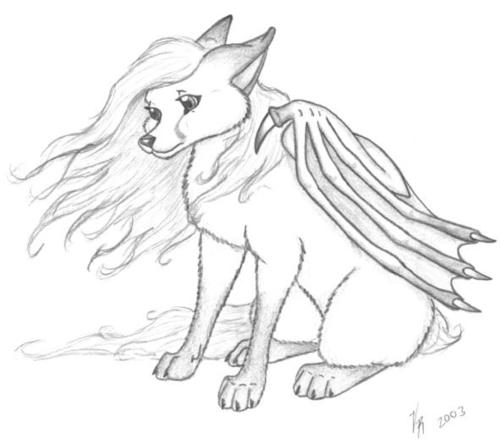 6 best images of winged wolf coloring pages printable cute