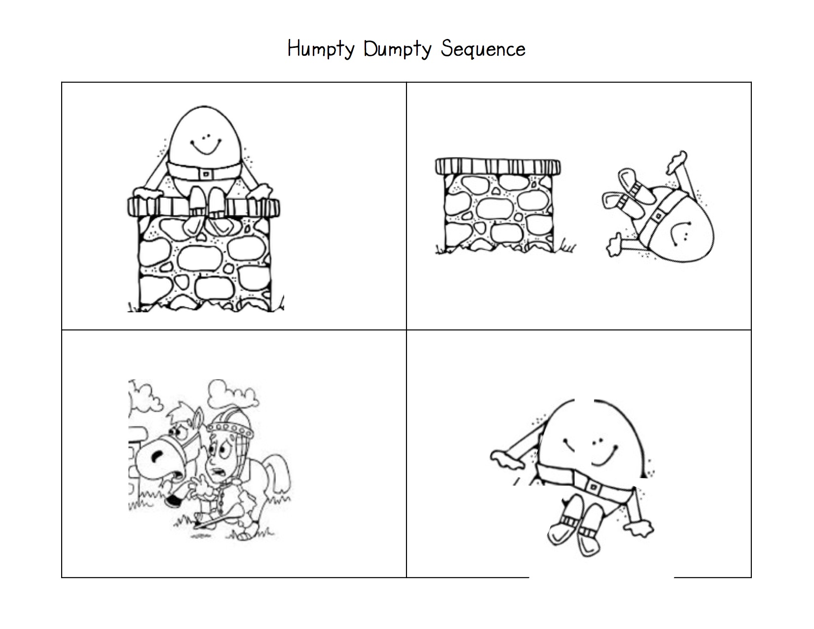 5 Best Images Of Printable Nursery Rhyme Sequencing