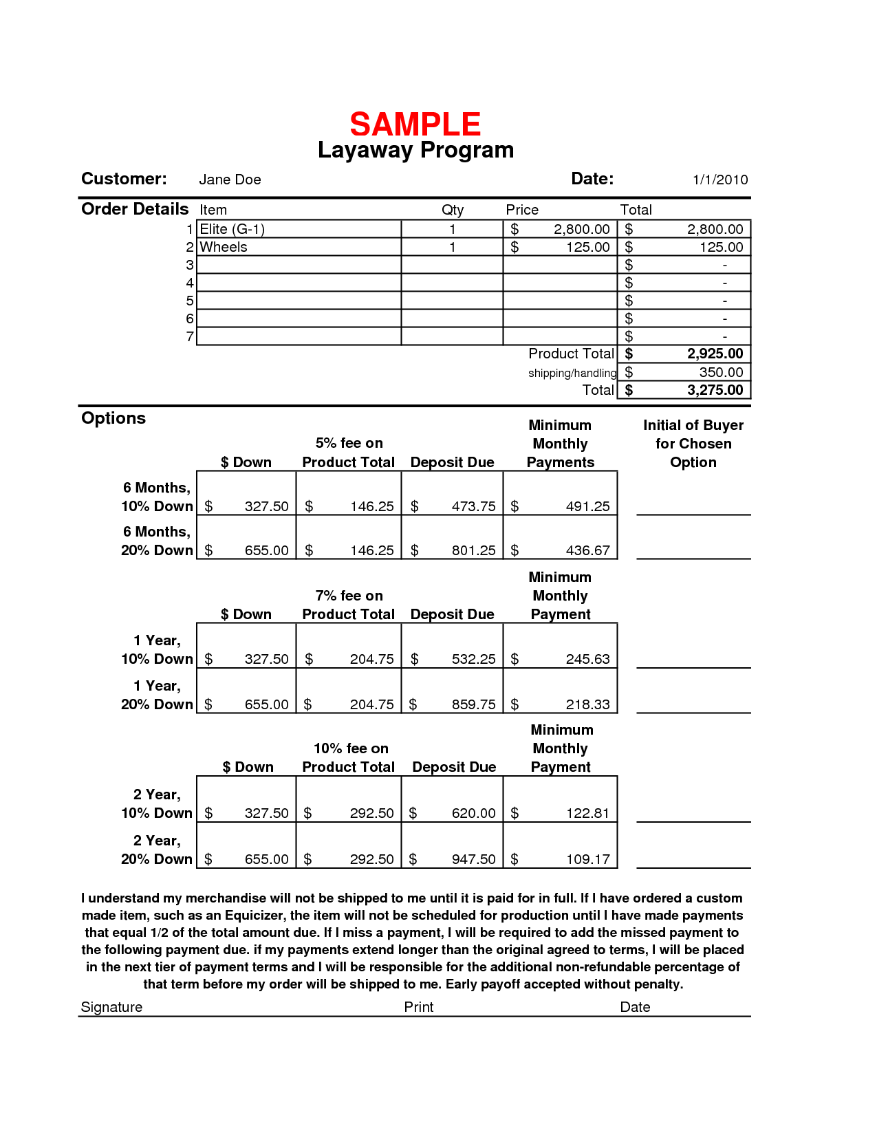 picture relating to Layaway Forms Printable titled Layaway Arrangement Template. layaway settlement template isda