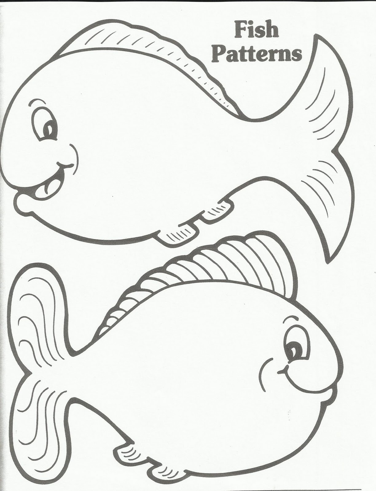 4 Best Images Of Fish Template Printable Large