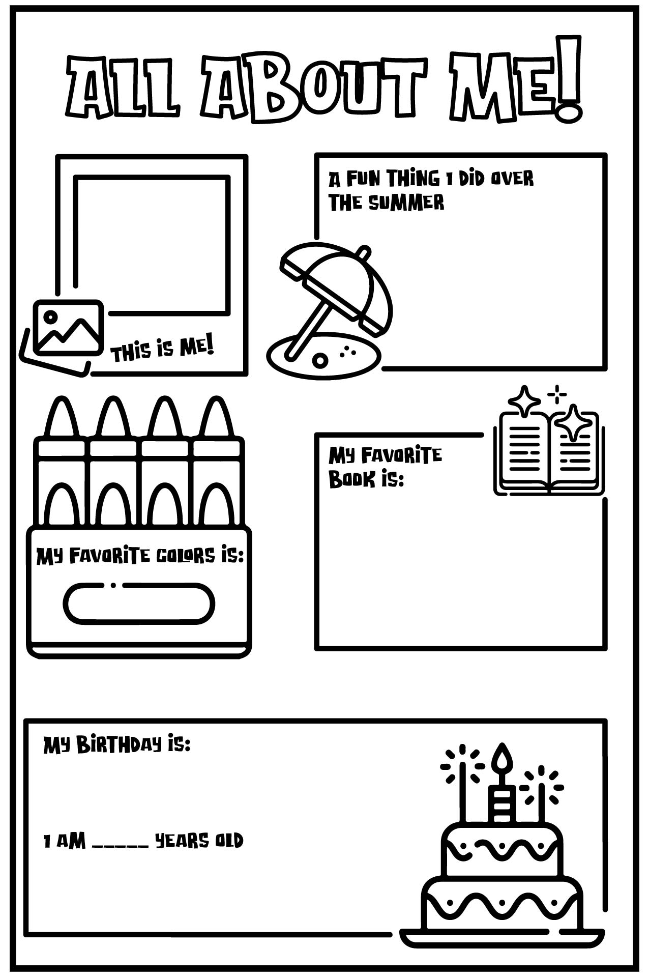 6 Best Images Of Free Printable All About Me Posters
