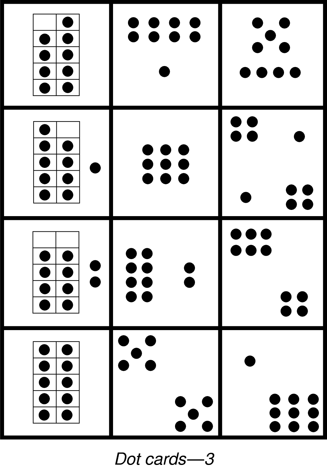 5 Best Images Of Printable Dot Cards 1 20